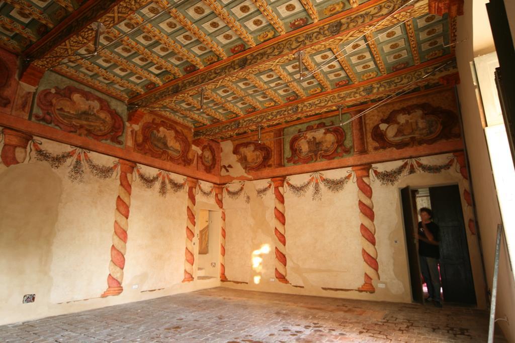 Soffitto a cassettoni dipinto reggia di caserta quot dipinto su