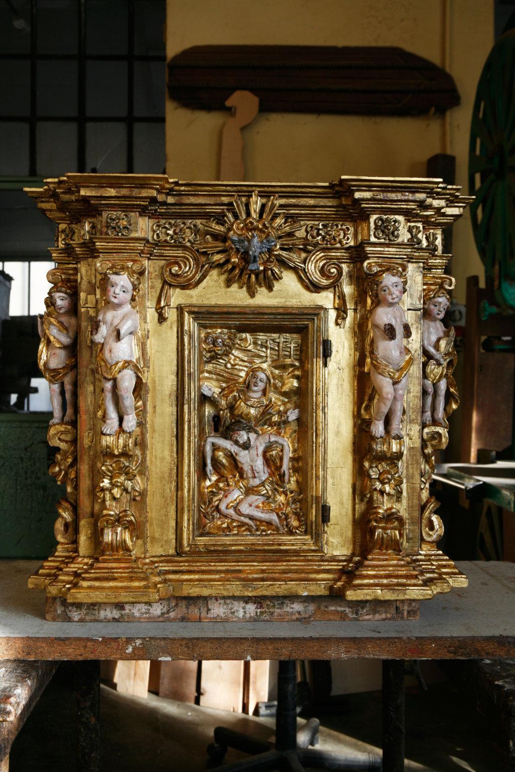 tabernacolo dopo il restauro