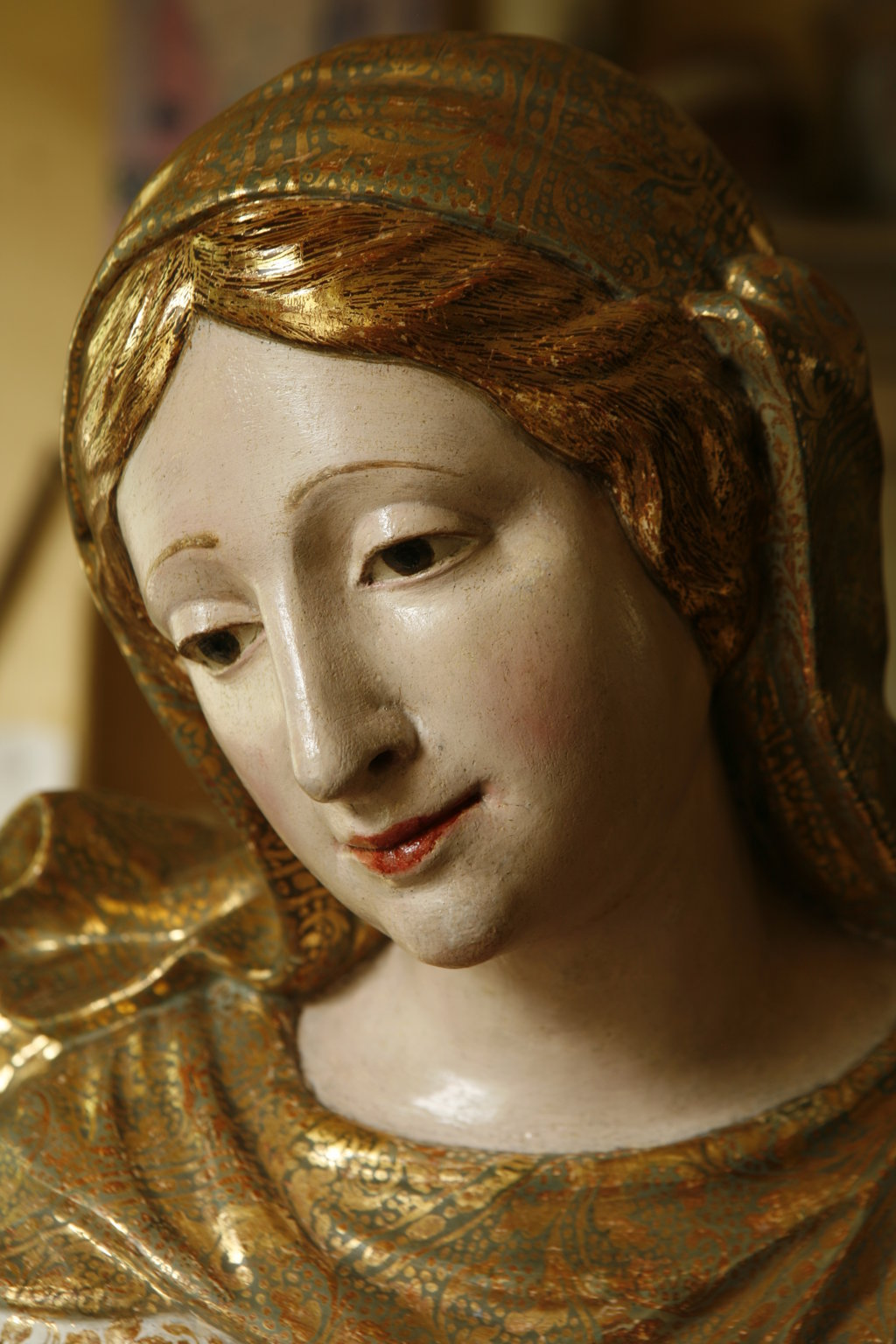 madonna assunta particolare volto