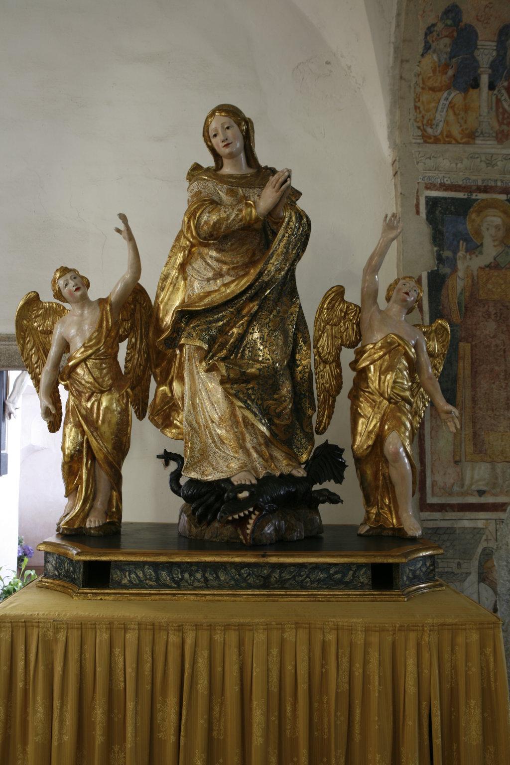 madonna assunta dopo il restauro
