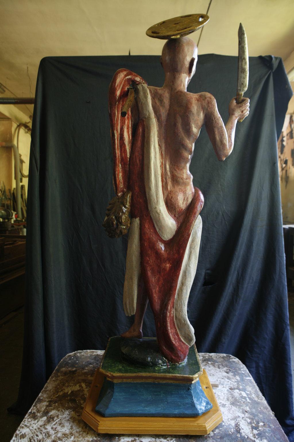 statua dopo il restauro