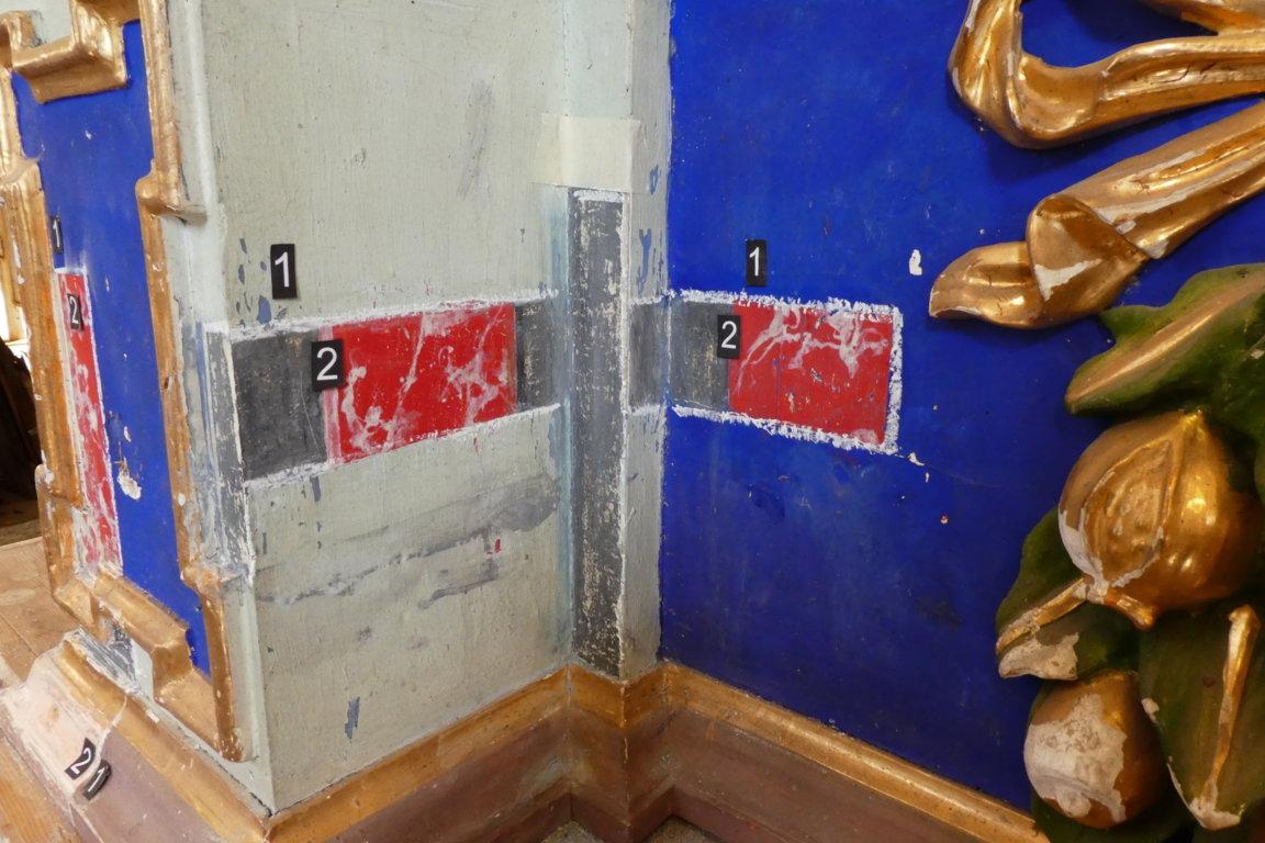 prove di pulitura altare