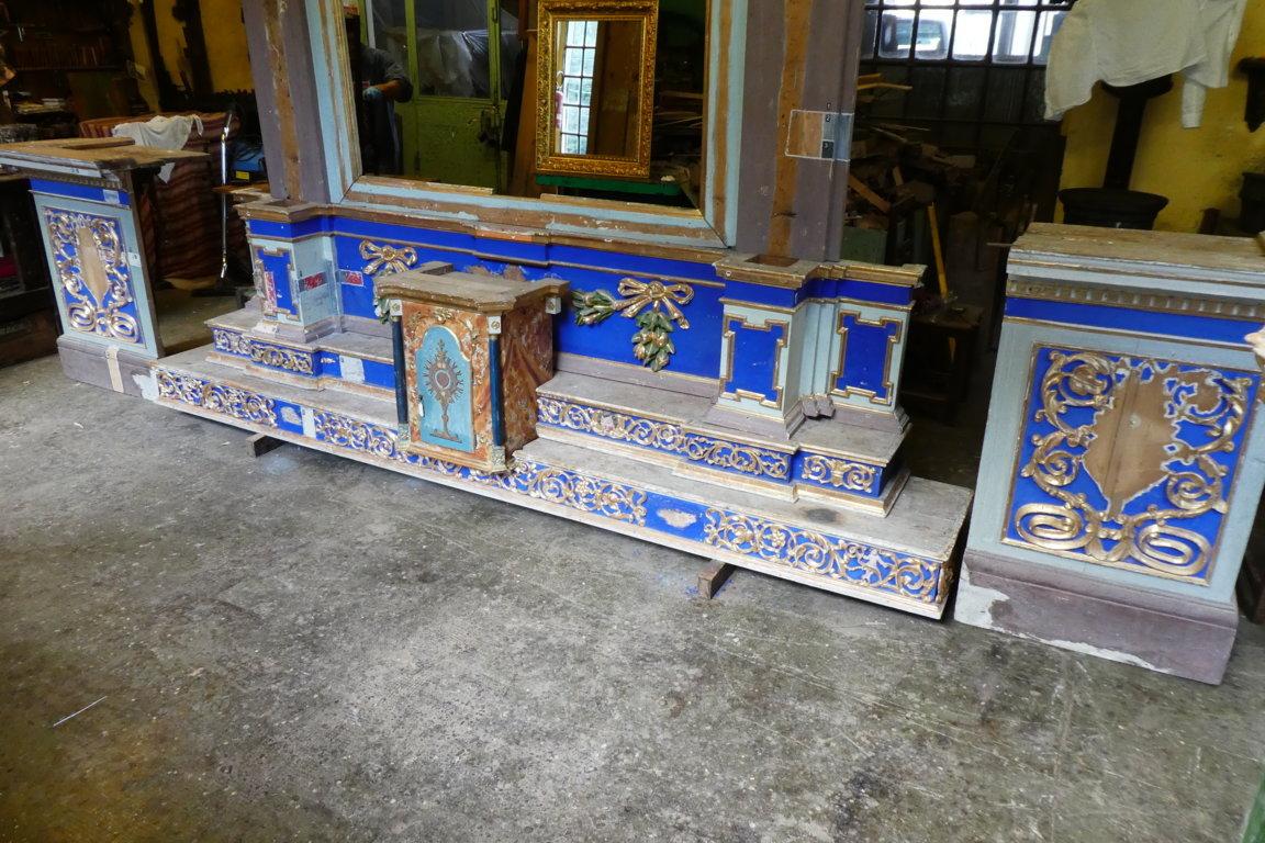 altare prima del restauro
