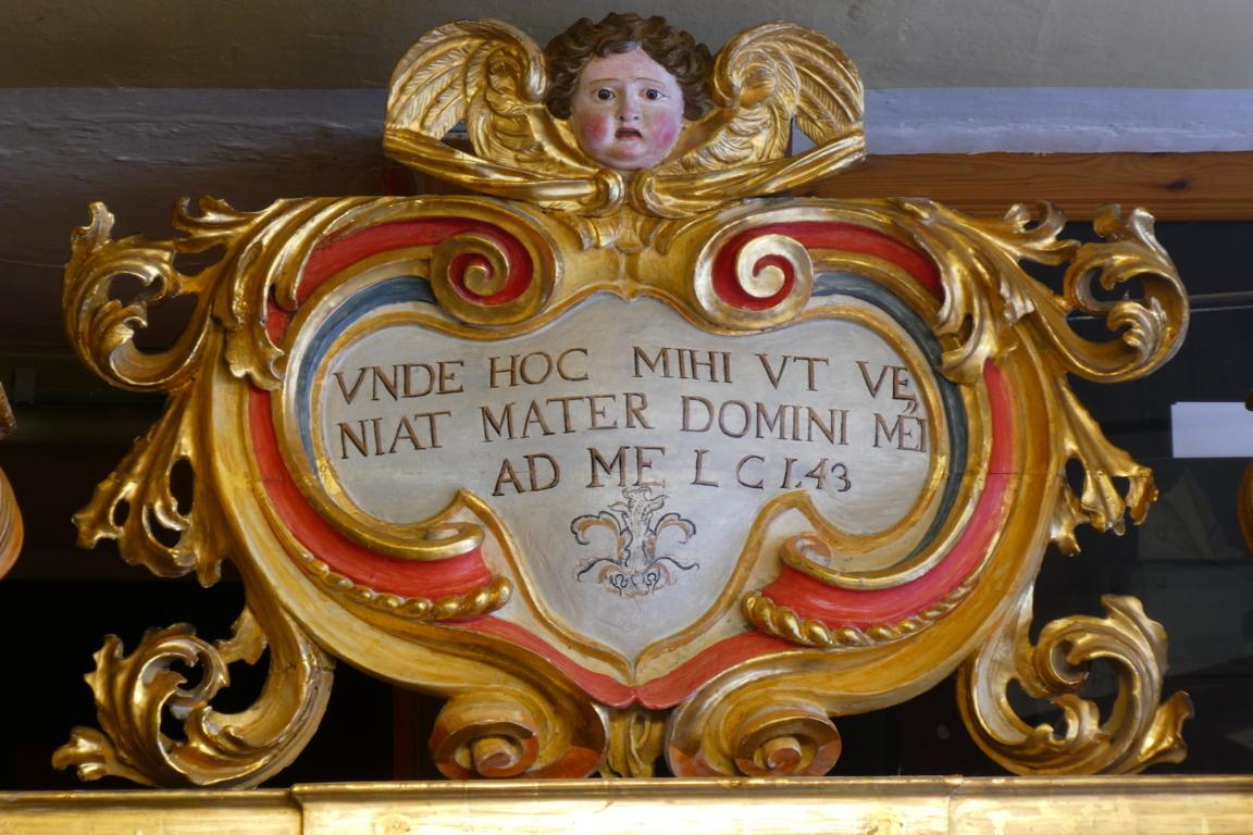 cimasa altare restaurata